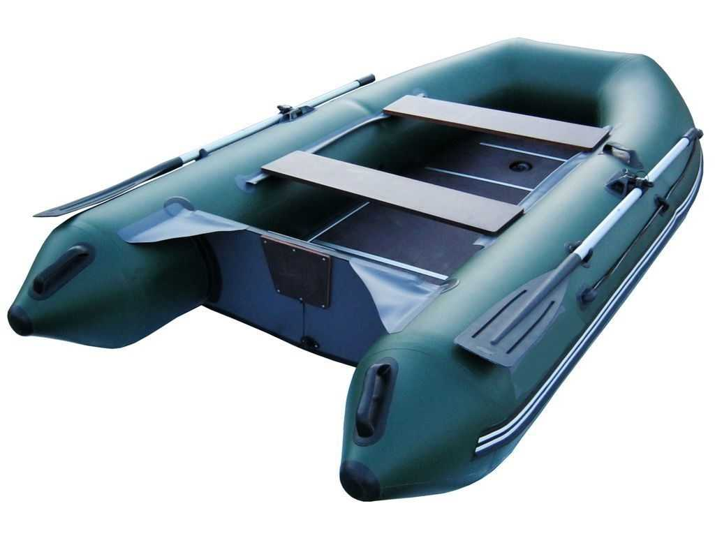 Лодка ПВХ 3х м., 300х135, г/п 300кг, баллон 390мм, до 8л.с., тв. пол Звезда 300