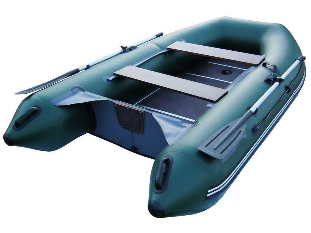 Лодка ПВХ 4х м., 350х158, г/п 500кг, баллон 440мм, до 10л.с., пол сборн. Звезда 350