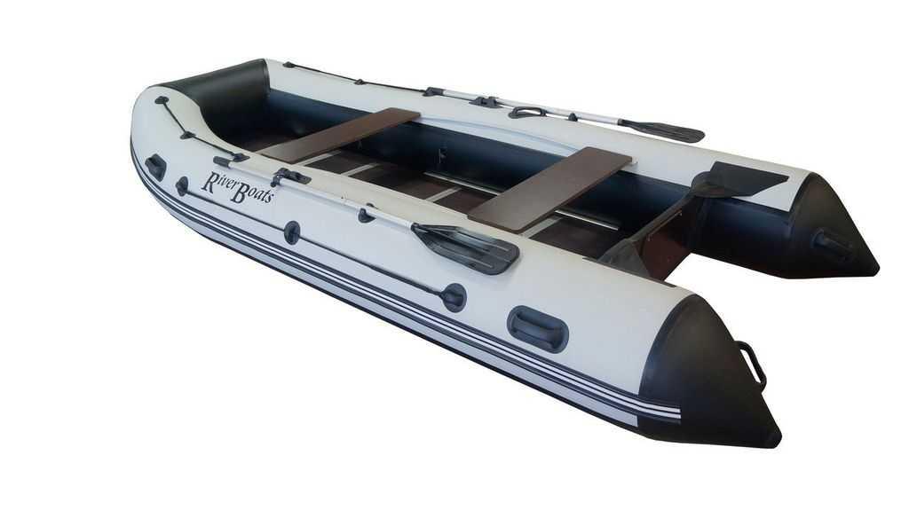 Лодка ПВХ 5ти м., 370х167, г/п 550кг, баллон 460мм, до 18л.с., RiverBoat RB-370