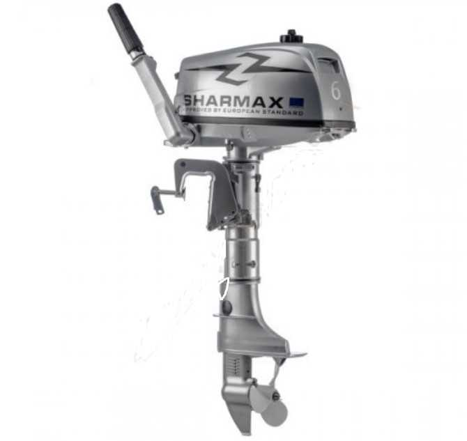 Мотор 6.0 л.с. 2-хткт., 20кг, ,  SHARMAX SM6HS (2019г)