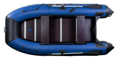 Лодка ПВХ 4х м., 330х158, г/п 430кг, баллон 440мм, до 15л.с., киль, пол RiverBoats RB 330
