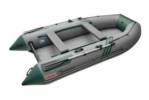 Лодка ПВХ 5х-м.,390х180, г/п 700кг, баллон 500мм, до 25л.с., Килева НДНД серый/зелен Zefir 3900