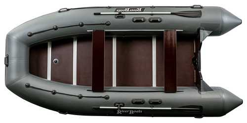 Лодка ПВХ 9х м., 470х214, г/п1550кг, баллон 580мм, до 50л.с, пол,  RB470(Киль)