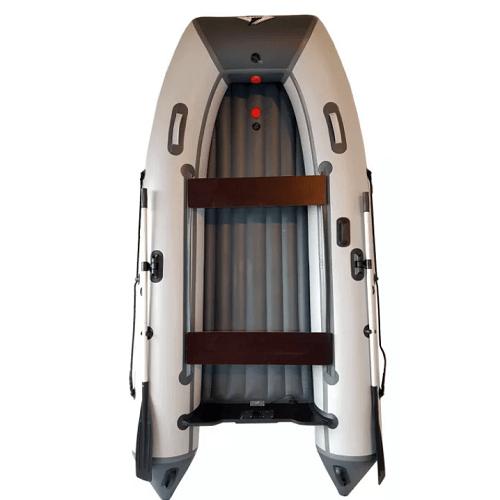 Лодка 350 ПВХ 4х-м, 350х183, г/п600кг, баллон 500мм, до 25л.с, НДНД ORCA 350 Драккар(киль) сер/черн