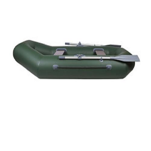 Лодка 240 ПВХ 2х м.,240х120, г/п 190кг, баллон 350мм, БЕЗ ТРАНЦА  с полом Дельта 240  зелен.